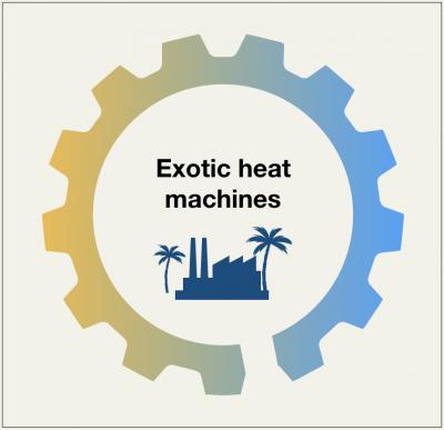 Exotic heat machines