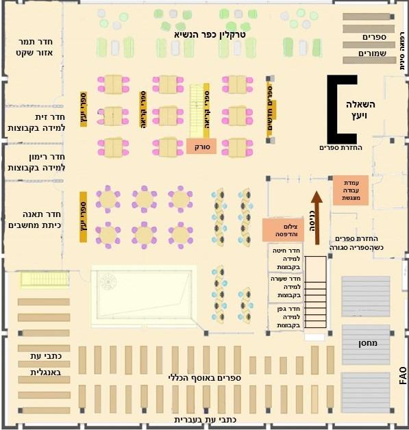 מפה לספריית החקלאות