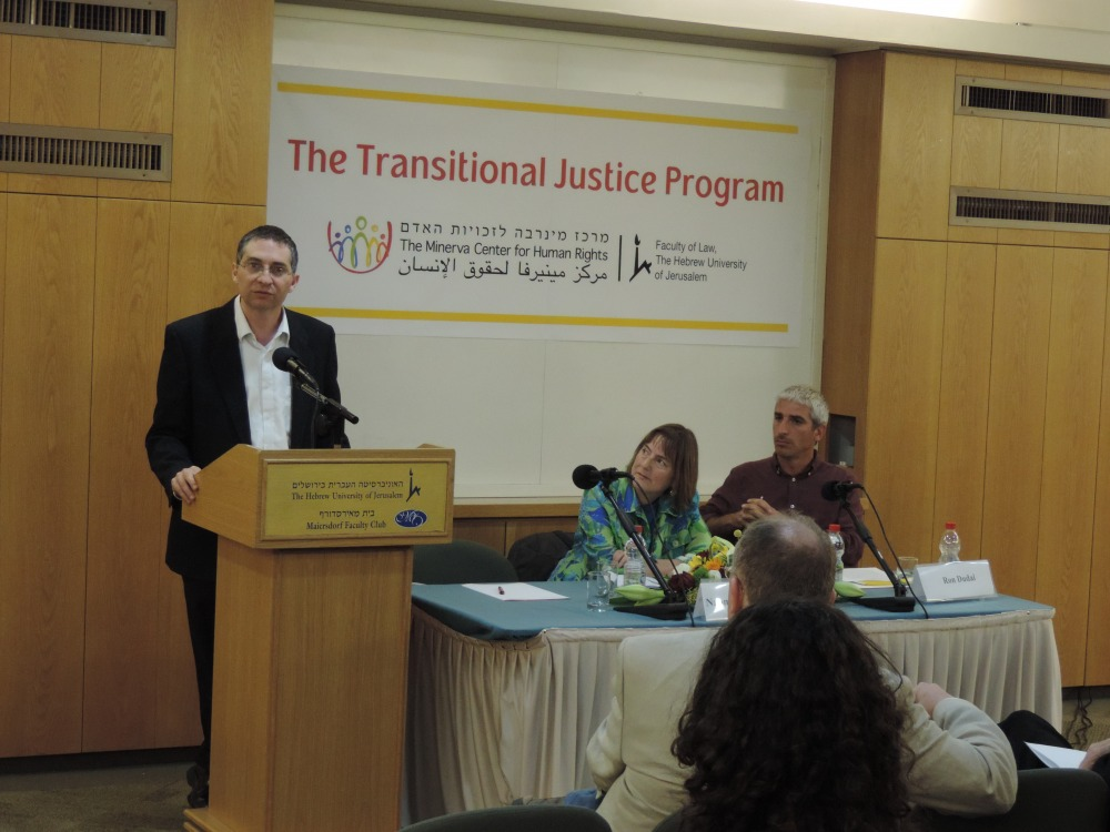 The event was chaired by Dr. Ron Dudai, Martin Buber Society of Fellows and Minerva Center for Human Rights.